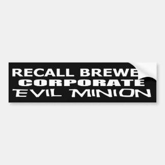Rückruf-Jan -Brauer-schlechter Unternehmensgünstli Autosticker