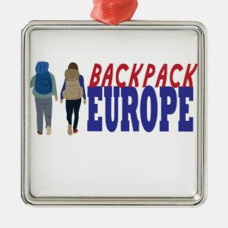 Rucksack Europa Silbernes Ornament
