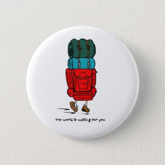 Rucksack größer als Wanderer Runder Button 5,7 Cm