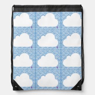 Rucksack himmlische Wolken Sportbeutel
