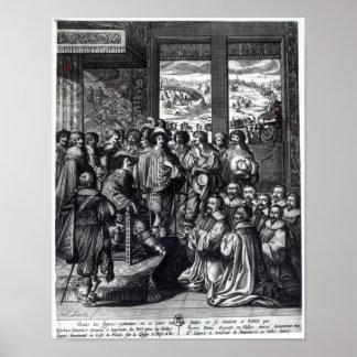 Rückseite Louis XIII von der Belagerung von La Roc Poster