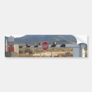 Rückseiten-Tor-Foto-Autoaufkleber des Bereichs-51 Autoaufkleber