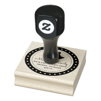 Rücksendeadresse-Gummi-Briefmarke Weihnachtsbell Gummistempel