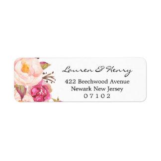 Rücksendeadresseaufkleber - rustikales rosa