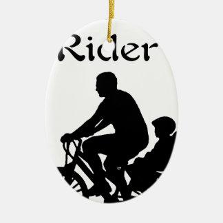 Rücksitz-Reiter Keramik Ornament