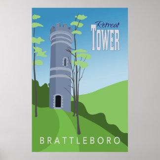 Rückzug-Turm-Retro Plakat