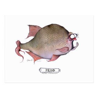 Rudd Fische, tony fernandes Postkarte