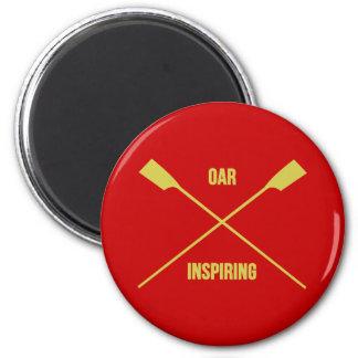 Ruder, das den Slogan und gekreuzte Ruder rot Runder Magnet 5,7 Cm