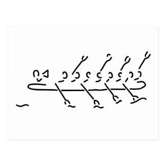 rudern achter boot rudersport postkarte
