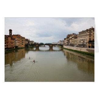 Rudern des Arnos Grußkarte