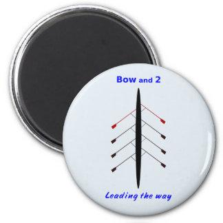 Rudernd Bogen und zwei führen die Weise Runder Magnet 5,7 Cm
