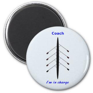 Rudersporttrainer verantwortlich runder magnet 5,1 cm