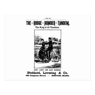 Rudge Humber Tandem-Fahrrad Postkarte
