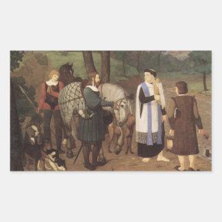 Rudolf von Habsburger und der Priester Rechteckige Sticker