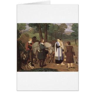 Rudolf von Habsburger und der Priester Grußkarte