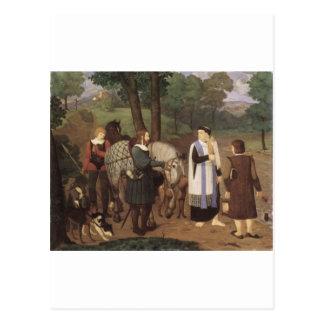 Rudolf von Habsburger und der Priester Postkarte