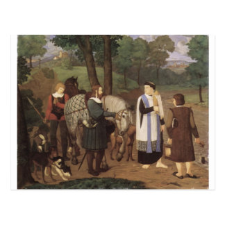 Rudolf von Habsburger und der Priester Postkarten