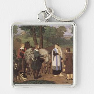 Rudolf von Habsburger und der Priester Schlüsselanhänger