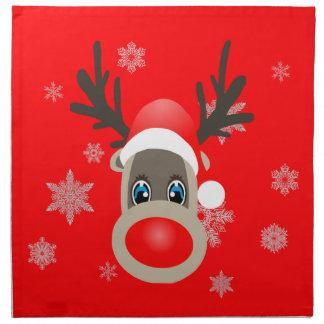Rudolf - Weihnachtsren Serviette