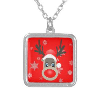Rudolf - Weihnachtsren Versilberte Kette
