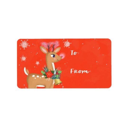 Rudolph das Ren-Geschenk Adressetiketten