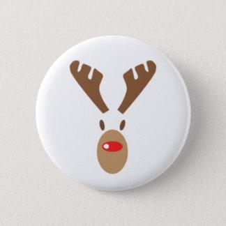 Rudolph das Rot-Nase Ren Runder Button 5,7 Cm