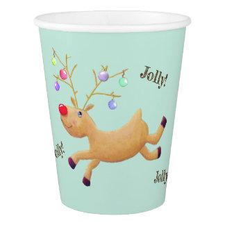 Rudolph-Feiertagspapierschalen Pappbecher
