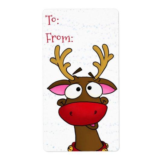 Rudolph, Geschenkumbauaufkleber Versand Aufkleber
