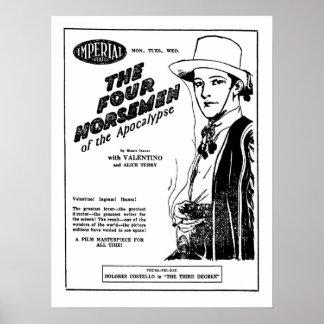 Rudolph Valentino vier Reiter Apokalypseanzeige Poster