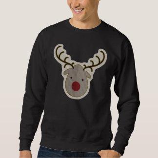 Rudolph-Weihnachtshässliche Strickjacke Sweatshirt