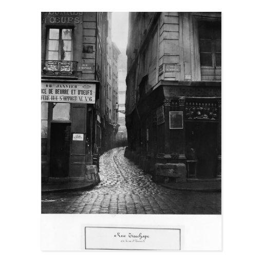 Rue Tirechape, von Rue St. Honore, Paris Postkarte