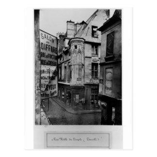Rue Vieille-DU-Tempel, Paris, 1858-78 Postkarte