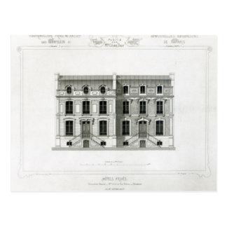 RueBalzac der Hotel-Prives, 10 u. 12, Paris Postkarte
