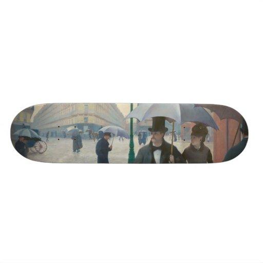 Ruede Paris Temps de Pluie durch Gustave Personalisierte Skateboards