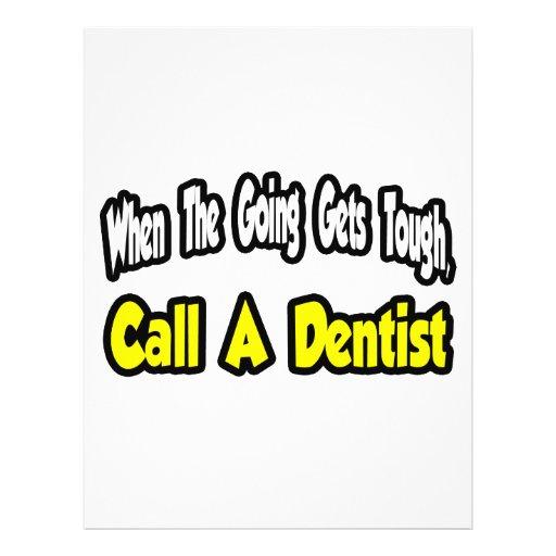 Rufen Sie einen Zahnarzt an Bedruckte Flyer