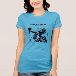 """Rufen Sie mich"" Drehtelefon-Personal an T-Shirt"