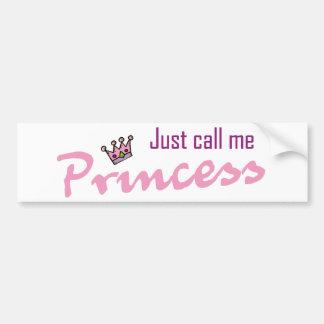 Rufen Sie mich einfach Prinzessin an Autoaufkleber