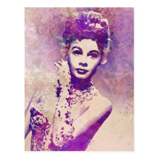 Rufen Sie mich gnädige Frau hübsche Postkarte an