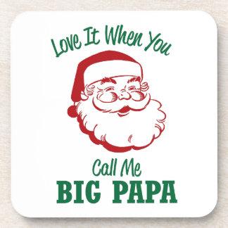 Rufen Sie mich großen Papa an Getränkeuntersetzer