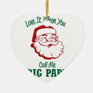 Rufen Sie mich großen Papa an Keramik Ornament