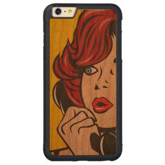 Rufen Sie mich… Pop-Kunst-Druck an Carved® Cherry iPhone 6 Plus Bumper Hülle