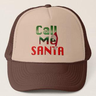rufen Sie mich Sankt lustiger Weihnachtshutentwurf Truckerkappe