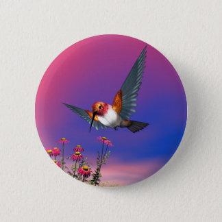 Rufous Kolibri Runder Button 5,7 Cm