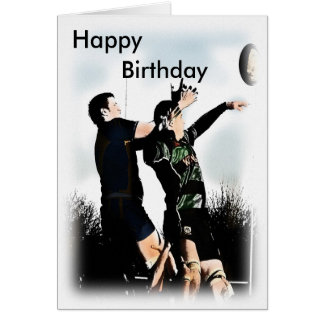 Rugby-alles Gute zum Geburtstag Grußkarte