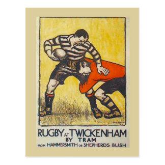 Rugby bei Twickenham durch Tram von Hammersmith Postkarte