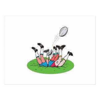 Rugby-Gedränge Postkarte