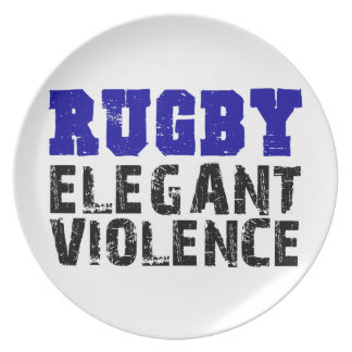 Rugby Melaminteller