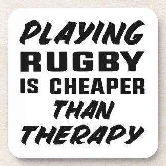 Rugby zu spielen ist billiger als Therapie Untersetzer