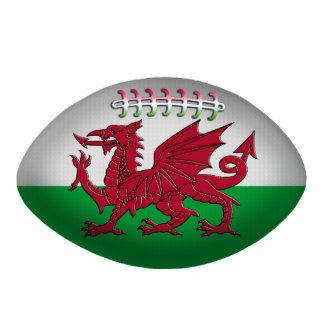 Rugbyball-Wales-Flaggen-Verzierung Fotoskulptur Ornament