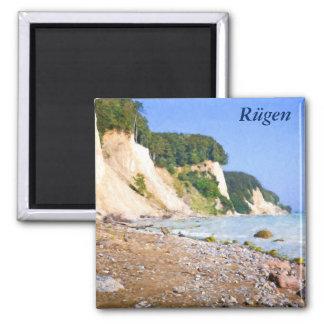Rügen Kreide-Klippen Quadratischer Magnet